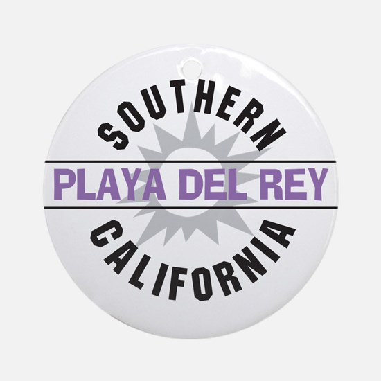 Playa del Rey California Ornament (Round)