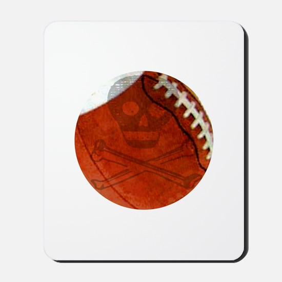 Skull & Crossbones Football Mousepad