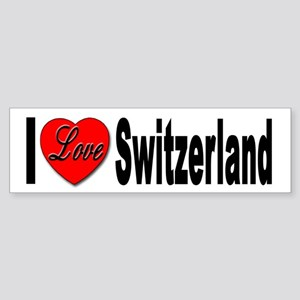 I Love Switzerland Bumper Sticker