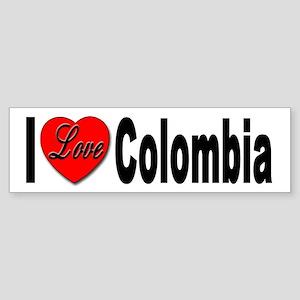 I Love Colombia Bumper Sticker for Colombia love