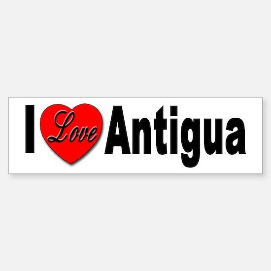 I Love Antigua Bumper Sticker for Antigua Lovers