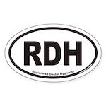 Registered Dental Hygienist RDH Euro Oval Sticker