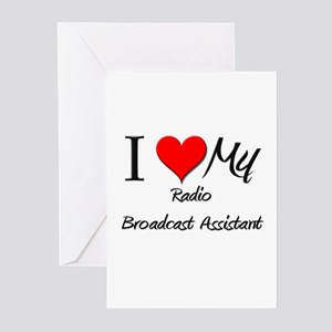 I Heart My Radio Broadcast Assistant Greeting Card