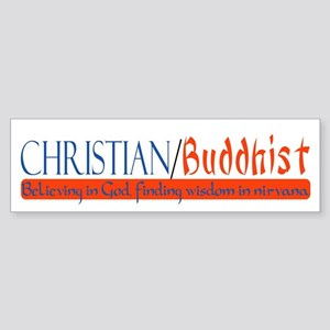 """Christian/Buddhist"" Bumper Sticker"