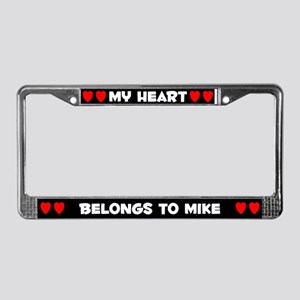 My Heart: Mike (#001) License Plate Frame