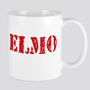 Elmo Rustic Stencil Design Mugs