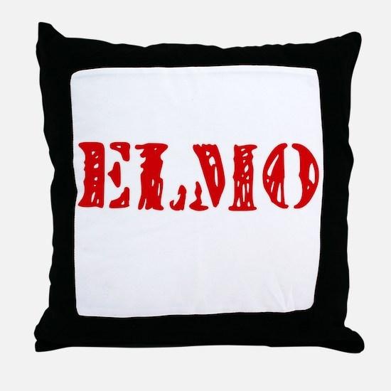 Elmo Rustic Stencil Design Throw Pillow