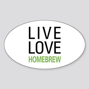Live Love Homebrew Oval Sticker