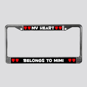 My Heart: Mimi (#001) License Plate Frame