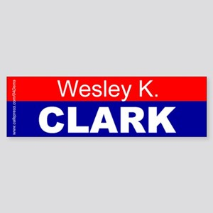 """Wesley K. Clark"" Bumper Sticker"