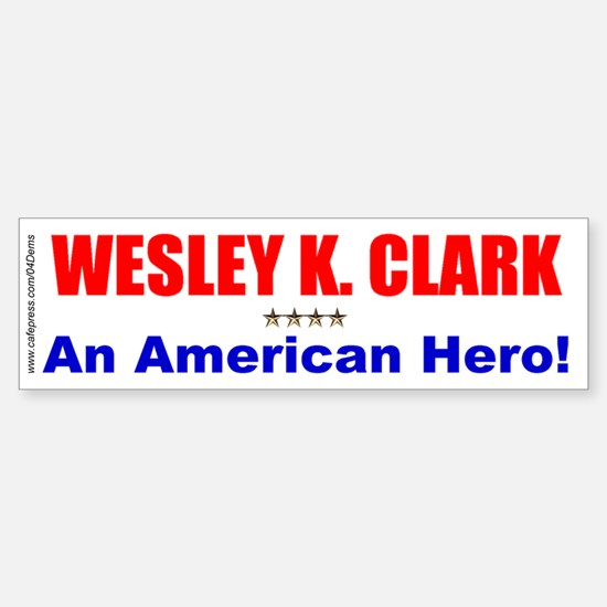 """American Hero"" Bumper Car Car Sticker"