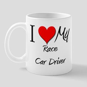 I Heart My Race Car Driver Mug
