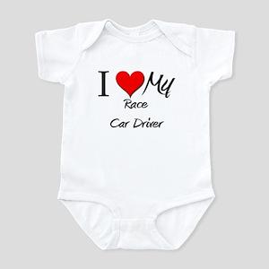 I Heart My Race Car Driver Infant Bodysuit