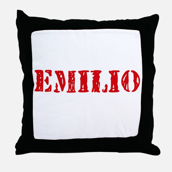 Emilio Rustic Stencil Design Throw Pillow