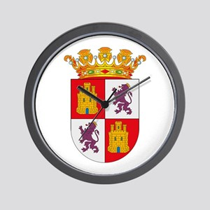 Castile and Leon Coat of Arms Wall Clock
