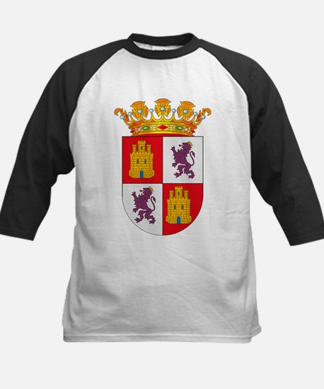 Castile and Leon Coat of Arms Kids Baseball Jersey
