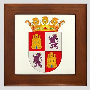 Castile and Leon Coat of Arms Framed Tile