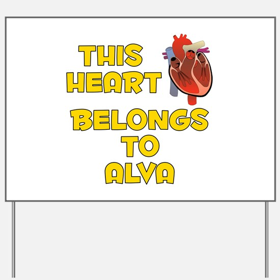 This Heart: Alva (A) Yard Sign