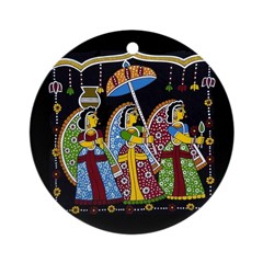 Indian Folkart Ornament (Round)