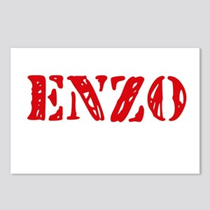 Enzo Rustic Stencil Desig Postcards (Package of 8)