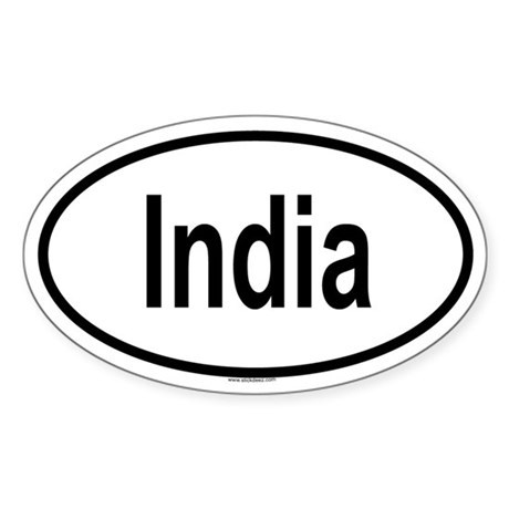 INDIA Oval Sticker