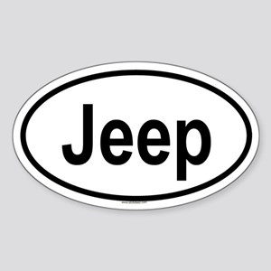 JEEP Oval Sticker