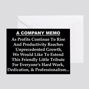 """A Company Memo: Teamwork"" Greeting Card"