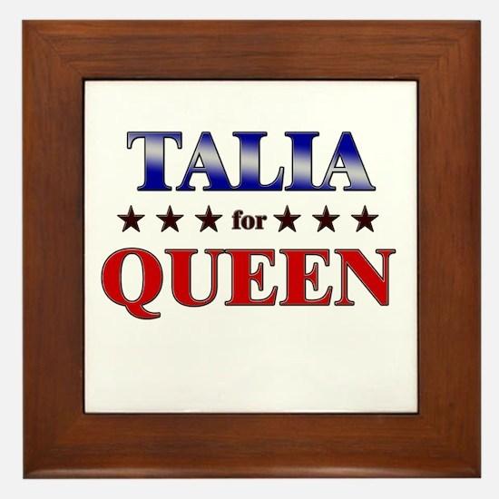 TALIA for queen Framed Tile