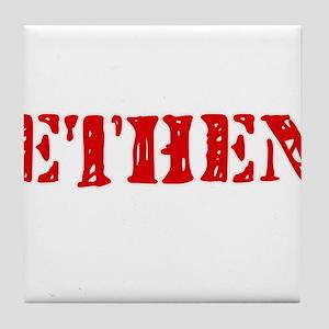 Ethen Rustic Stencil Design Tile Coaster