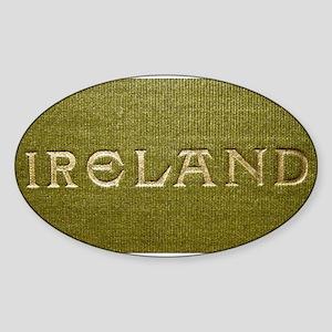 Ireland Gilded Linen Sticker