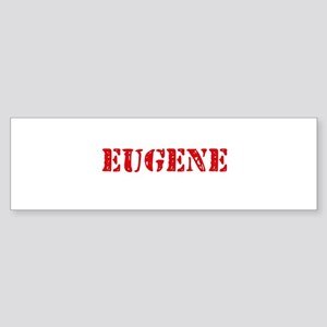 Eugene Rustic Stencil Design Bumper Sticker