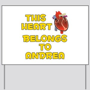 This Heart: Andrea (A) Yard Sign