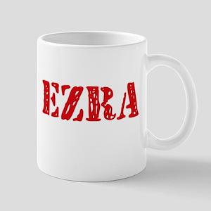 Ezra Rustic Stencil Design Mugs