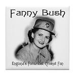 Fanny Bush Cricket Fan Tile Coaster