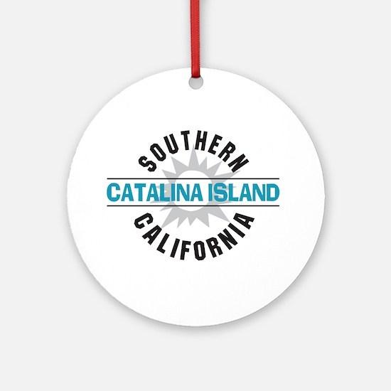 Catalina Island California Ornament (Round)