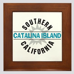 Catalina Island California Framed Tile