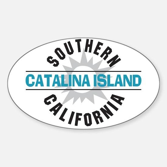 Catalina Island California Sticker (Oval)