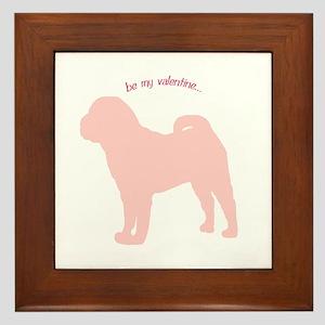 Shar Pei... Be My Valentine Framed Tile