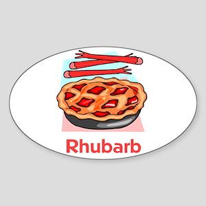 Rhubarb Oval Sticker