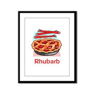 Rhubarb Framed Panel Print