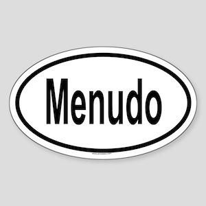 MENUDO Oval Sticker