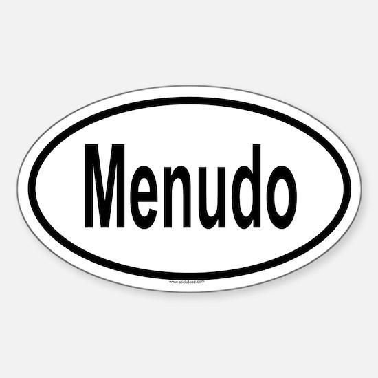MENUDO Oval Decal