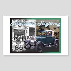 ROUTE 66 CLASSIC Rectangle Sticker