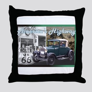 ROUTE 66 CLASSIC Throw Pillow