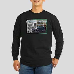 ROUTE 66 CLASSIC Long Sleeve Dark T-Shirt