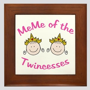 Meme of Twincesses Framed Tile
