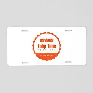 Tulip Time Seal Aluminum License Plate