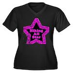 Hiking All Star Women's Plus Size V-Neck Dark T-Sh