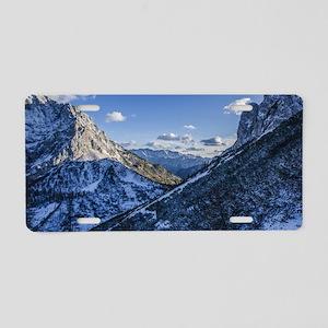 Snow Mountain Aluminum License Plate