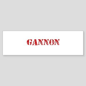 Gannon Rustic Stencil Design Bumper Sticker